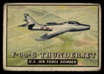 1952 Topps Wings #125   F-84-G Thunderjet Front Thumbnail
