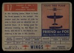 1952 Topps Wings #17   Balliol T. MK.2 Back Thumbnail