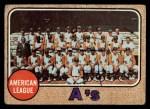 1968 Topps #554   Athletics Team Front Thumbnail