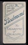1909 T206 BAT George Stovall  Back Thumbnail