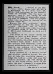 1950 Callahan Hall of Fame  Bill Klem  Back Thumbnail