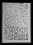 1950 Callahan Hall of Fame  Nap Lajoie  Back Thumbnail