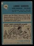 1964 Philadelphia #193  Lonnie Sanders  Back Thumbnail