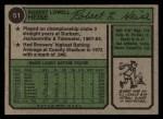1974 Topps #51  Bob Heise  Back Thumbnail