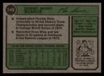 1974 Topps #149  Mac Scarce  Back Thumbnail