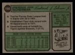 1974 Topps #186  Fred Scherman  Back Thumbnail