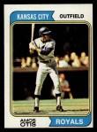 1974 Topps #65  Amos Otis  Front Thumbnail