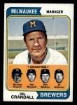 1974 Topps #99   -  Del Crandall / Harvey Kuenn / Joe Nossek / Jim Walton / Al Widmar Brewers Leaders Front Thumbnail