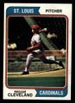 1974 Topps #175  Reggie Cleveland  Front Thumbnail