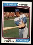 1974 Topps #127  Tom Paciorek  Front Thumbnail