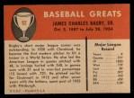 1961 Fleer #92  Jim Bagby  Back Thumbnail