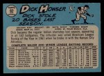 1965 O-Pee-Chee #92  Dick Howser  Back Thumbnail