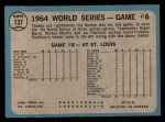 1965 O-Pee-Chee #137   -  Jim Bouton 1964 World Series - Game #6 - Bouton Wins Again Back Thumbnail