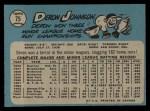 1965 O-Pee-Chee #75  Deron Johnson  Back Thumbnail