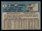 1965 O-Pee-Chee #76  Sam McDowell  Back Thumbnail