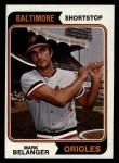 1974 Topps #329  Mark Belanger  Front Thumbnail