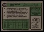 1974 Topps #421  Dan Fife  Back Thumbnail