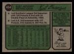 1974 Topps #454  Kurt Bevacqua  Back Thumbnail