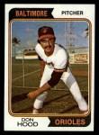1974 Topps #436  Don Hood  Front Thumbnail