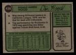 1974 Topps #436  Don Hood  Back Thumbnail