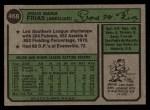 1974 Topps #468  Pepe Frias  Back Thumbnail