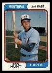 1974 Topps #275  Ron Hunt  Front Thumbnail