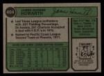 1974 Topps #404  Jim Howarth  Back Thumbnail