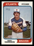 1974 Topps #298  Roric Harrison  Front Thumbnail