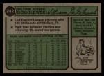 1974 Topps #242  Bill Gogolewski  Back Thumbnail