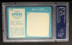 1961 Topps #138  Jack Spikes  Back Thumbnail