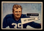 1952 Bowman Small #46  Art Donovan  Front Thumbnail