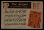 1955 Bowman #200  Dick Littlefield  Back Thumbnail