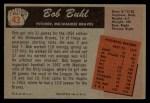 1955 Bowman #43  Bob Buhl  Back Thumbnail