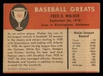 1961 Fleer #151  Dixie Walker  Back Thumbnail