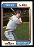 1974 Topps #580  Jim Spencer  Front Thumbnail