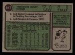 1974 Topps #617  Ted Ford  Back Thumbnail