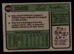 1974 Topps #652  Gail Hopkins  Back Thumbnail