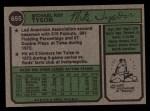 1974 Topps #655  Mike Tyson  Back Thumbnail
