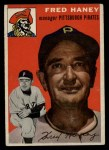 1954 Topps #75  Fred Haney  Front Thumbnail