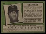1971 Topps #95  Luis Tiant  Back Thumbnail