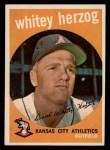 1959 Topps #392  Whitey Herzog  Front Thumbnail