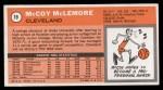 1970 Topps #19  McCoy McLemore   Back Thumbnail