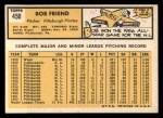 1963 Topps #450  Bob Friend  Back Thumbnail