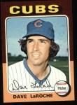 1975 Topps #258  Dave LaRoche  Front Thumbnail