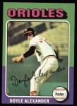 1975 Topps #491  Doyle Alexander  Front Thumbnail