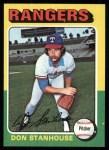1975 Topps #493  Don Stanhouse  Front Thumbnail