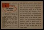 1954 Bowman #6  Joe Perry  Back Thumbnail