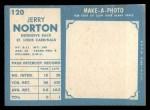 1961 Topps #120  Jerry Norton  Back Thumbnail