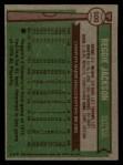 1976 Topps #500  Reggie Jackson  Back Thumbnail