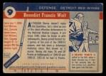 1954 Topps #9  Benny Woit  Back Thumbnail